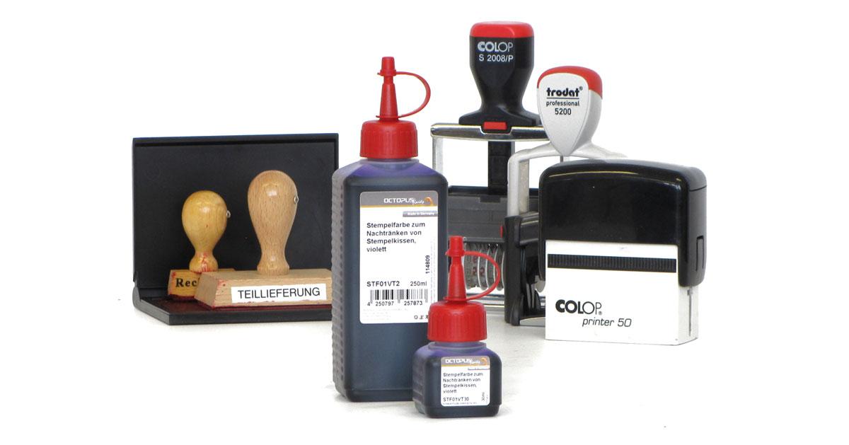 Stempelfarbe für Trodat, Colop, Holzstempel und Gummistempel